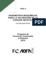 Parámetros Bioquímicos Para La Valoracion de La Funcion Hepatica-2010