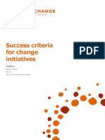 Success Criteria for Change Initiatives