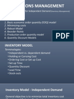 OPERATIONS MANAGEMENT-Inventory Models for Independent Demand
