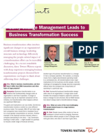 Savvy Change Management Leads to Business Transformation Success