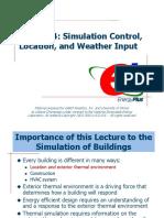 Lecture 04 Simulation Control