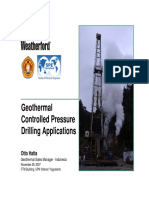 Geothermal CPDS Applications