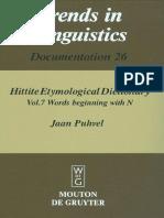 Jaan Puhvel Hittite Etymological Dictionary Vol 7