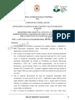 Protocollo intesa rifunzionalizzazione Castelsandra