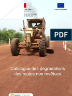 Catalogue Degradations Routes Non Revetues