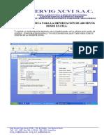 Guia Para Importacion Archivos Excell