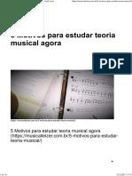 5 Motivos Para Estudar Teoria Musical Agora Parte 1