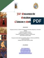 IV Encuentro de estudios clásicos y medievales
