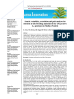 Genetic variability, correlation and path analyses for selection in elite breeding materials of rice (Oryza sativa L.) genotypes in Madhya Pradesh