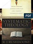 The Necessity for Systematic Th - R. J. Rushdoony