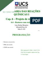 Cap. 6.4 - Projeto de Reatores - Reatores Com Reciclo