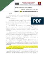 Resolución Elecciones Municipales 2018