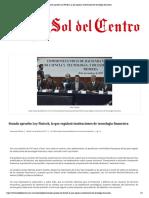 05-12-17 Senado aprueba Ley Fintech, la que regulará instituciones de tecnología financiera