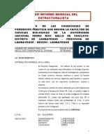 Tercer Informe Mensual de Estructuras Unprgch