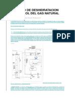 Proceso de Deshidratacion Con Glicol Del Gas Natural