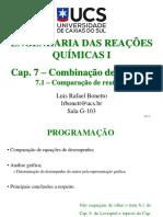Cap. 7.1 - Comparação de Reatores