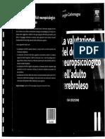 La Valutazione Del Deficit Neupsicologico Nel Cerebroleso - Carlomagno