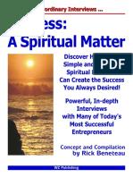 Success - A Spiritual Matter