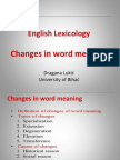 LexicologyChanges-of-Word-MeaningDraganaII.ppt