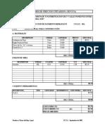 Precios Unitarios Sistema de Drenaje y Pavimentacion 1 Calle