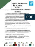Reglamento Campeonatos Universitarios Madrid