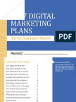 Ascend2 2017 Digital Marketing Plan Survey Summary Report 161208
