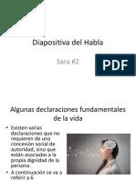 Diapositiva Del Habla y Escucha SARA