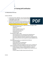 4. TRID Training Self Certification 9-8-15