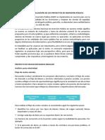 Análisis de Evaluación de Los Proyectos en Inversión Pública