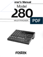 Fostex 280 4track Owners Manual