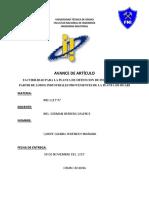 FACTIBILIDAD PARA LA PLANTA DE OBTENCION DE FERTILIZANTES A PARTIR DE LODOS INDUSTRIALES PROVENIENTES DE LA PLANTA DE HUARI.docx