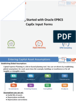 Oracle EPBCS CapEx Input Forms