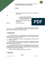 INFORME N°04 DE CANAL - TOPOGRAFIA DE OBRAS
