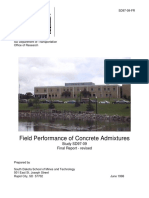Field Performance of Concrete Admixtures