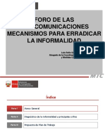 3 EXPOSICION HUANUCO - Mecanismos Para Erradicar La Informalidad