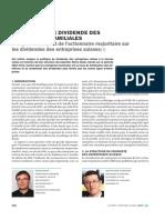 Analyse de l'Impact de l'Actionnaire Majoritaire Sur Dividende