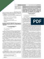 Autorizan Transferencia  Ante Heladas 2017