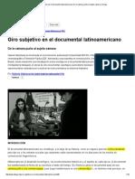 Giro Subjetivo en El Documental Latinoamericano_ de La Cámara-puño Al Sujeto-cámara