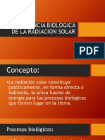 Importancia Biologica de La Radiaicion Solar