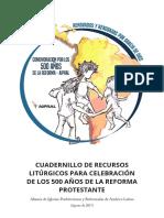 Cuadernillo de Recursos Litrgicos Para Celebracin de Los 500 Aos de La Reforma Protestante