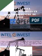 OPEP Plantea Mantener Recortes en Segundo Semestre de 2018
