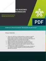 11. Evidencia 5. Plan de Muestreo Recolección de Información