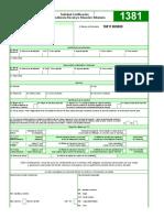 1381 Formato Solicitud Certificación sobre Residencia Fiscal yo Situación Tributaria.xlsx