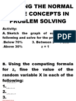 Applying the Normal Curve Concepts in Problem Solv