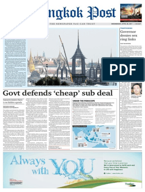 Bangkok Post April 26 2017 | Bahrain | Thailand