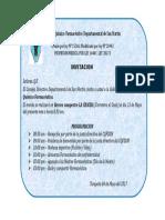 Invitacion a Celebracion Dia Del Quimico Farmaceutico
