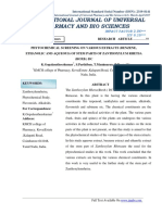 Phytochemical Screening on Various Extracts (Benzene, Ethanolic and Aqueous) of Stem Parts of Zanthoxylum Rhetsa
