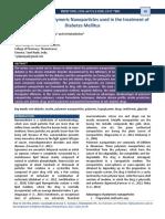 Polymeric Nanoparticle-Diabetes Mellitus