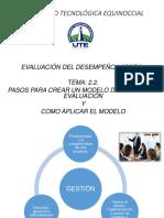 2.2. Pasos Para Crear Un Modelo de Gestión de Evaluación y Como Aplicar El Modelo