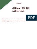 La Nueva Ley de Fabricas Lenin